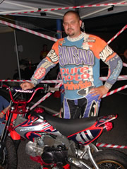 Steve Griffin-Wintle with pitbike